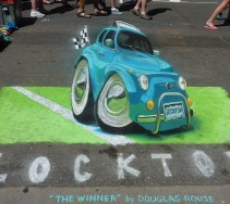 My favorite entry at the Chalk Art Festival